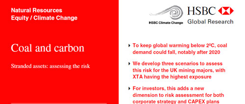 HSBC: Oil & carbon revisited: Value at risk from