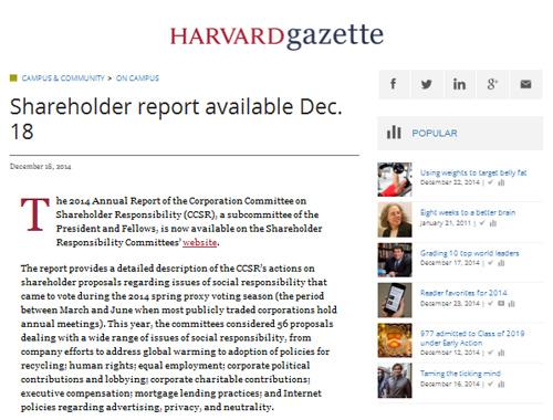 Harvard-Report