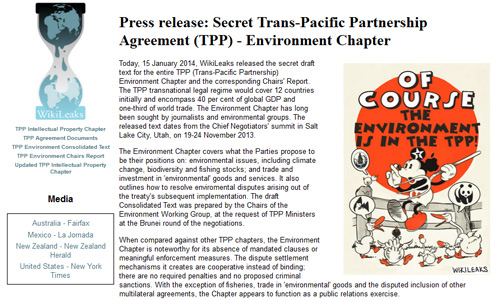 Press Release Secret Trans Pacific Partnership Agreement Tpp