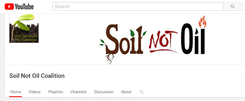 Soil not oil coalition transition studies for Soil not oil