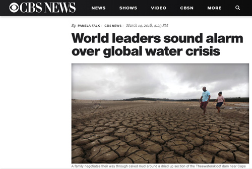 World leaders sound alarm over global water crisis – CBS