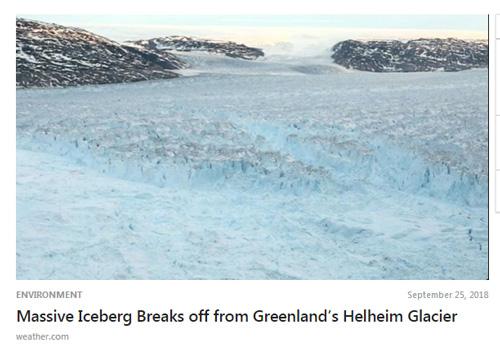 Massive Iceberg Breaks off from Greenland's Helheim Glacier | The