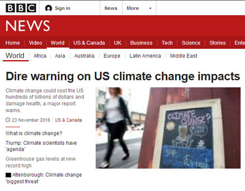 Climate change: Report warns of growing impact on US life – BBC News